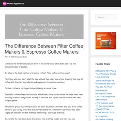 The Difference Between Filter Coffee Makers & Espresso Coffee Makers - Pro Kitchen Appliances