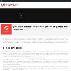 Quel est la différence entre catégorie et étiquettes dans Wordpress ? – Expression Web