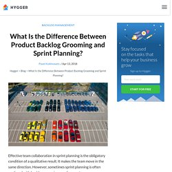What Is the Difference Between Product Backlog Grooming and Sprint Planning?