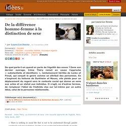 De la différence homme-femme à la distinction de sexe