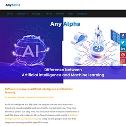 Difference between Artificial intelligence and Machine learning - Anyalpha