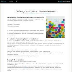 Co-Design, Co-Création : Quelle Différence ?