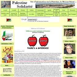 Différence entre Judaïsme et Sionisme