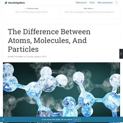 The Difference Between Atoms, Molecules, And Particles