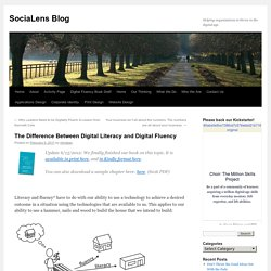 The Difference Between Digital Literacy and Digital Fluency | SociaLens Blog