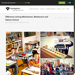 Difference among Mainstream, Montessori and Steiner School