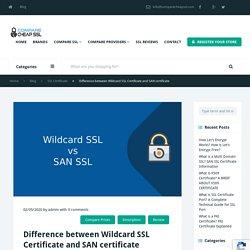 Wildcard vs SAN SSL - Difference between Wildcard SSL & SAN (Multidomain) SSL