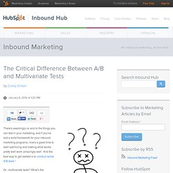 The Critical Difference Between A/B and Multivariate Tests