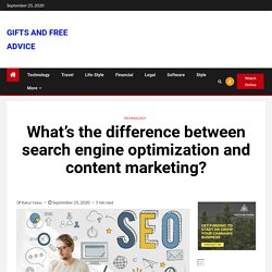 What's the difference between search engine optimization and content marketing?