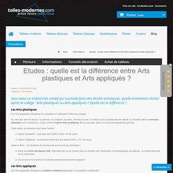 Etudes : quelle est la différence entre Arts plastiques et Arts appliqués ? - Tableau Moderne