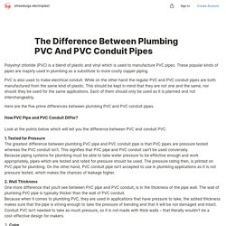 The Difference Between Plumbing PVC And PVC Conduit Pipes — Teletype