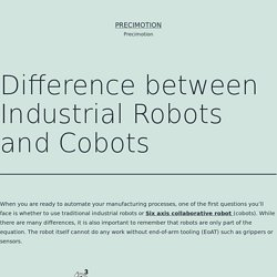 Difference between Industrial Robots and Cobots – Precimotion