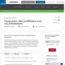Formation Power point : faire la différence avec ses présentations