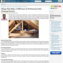 Make A Difference In Professional Attic Cleaning Services