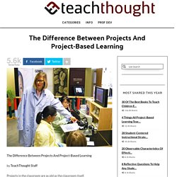 The Difference Between Projects And Project-Based Learning
