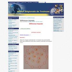 Différence imposée - [APMEP Régionale de Toulouse]