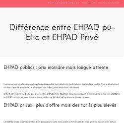 Différence entre EHPAD public et EHPAD Privé - RetraiteAdvisor