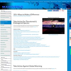 101+ Ways to Make a Difference ~ Solutions that Protect the Ocean ~ MarineBio.org