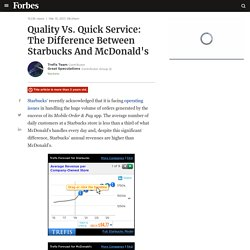 Quality Vs. Quick Service: The Difference Between Starbucks And McDonald's