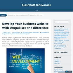 Develop Your Business Website with Drupal: See The Difference