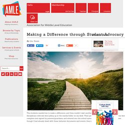Making a Difference through Student Advocacy