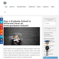 Difference Between Graduate School and Undergraduate School
