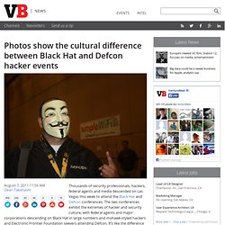 Photos show the cultural difference between Black Hat and Defcon hacker events