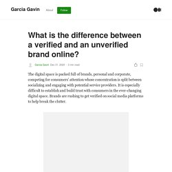 What is the difference between a verified and an unverified brand online?