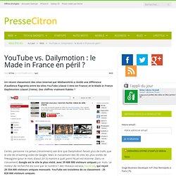 La différence de trafic entre YouTube et Dailymotion est-elle aussi énorme ?