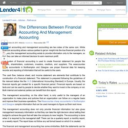 The Differences Between Financial Accounting And Management Accounting