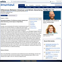 Differences Between American and British Advertising - Scratchpad - Wikia