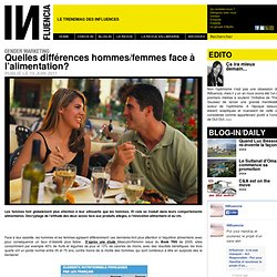 Gender Marketing - Quelles différences hommes/femmes face à l'alimentation?
