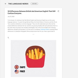 58 Differences Between British And American English That Still Confuse Everyone.