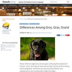 Differences Among Gros, Gras, Grand