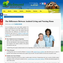 The Differences Between Assisted Living and Nursing Home