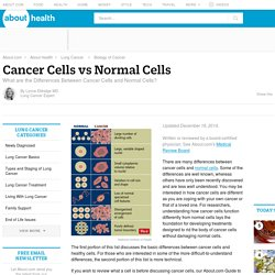 Differences Between Cancer and Normal Cells