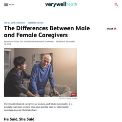 The Differences Between Male and Female Caregivers