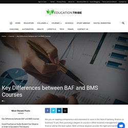 Key Differences between BAF and BMS Courses