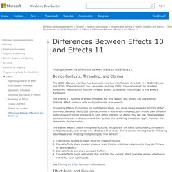 Differences Between Effects 10 and Effects 11