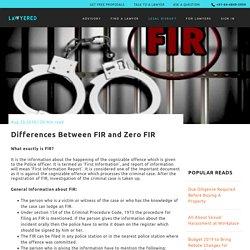 Differences Between FIR and Zero FIR