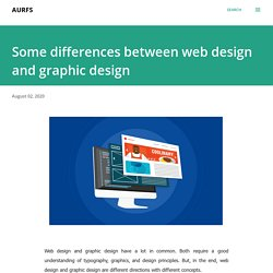 Some differences between web design and graphic design