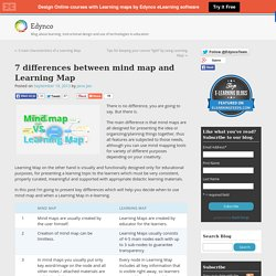 7 differences between mind map and Learning Map