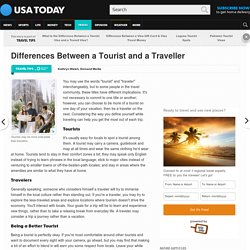 Differences Between a Tourist and a Traveller