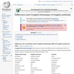Différences entre l'anglais britannique et l'anglais ...