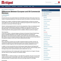 Differences Between European and US Commercial Kitchens