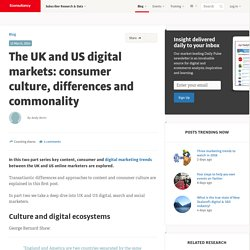 The UK and US digital markets: consumer culture, differences and commonality
