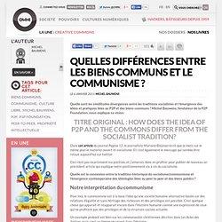 Quelles différences entre les biens communs et le communisme ? » Article » OWNI, Digital Journalism