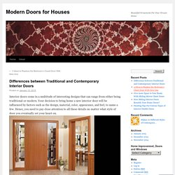 Differences between Traditional and Contemporary Interior Doors