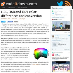 HSL, HSB and HSV color: differences and conversion - codeitdown