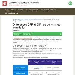Différences CPF et DIF : ce qui change avec la loi